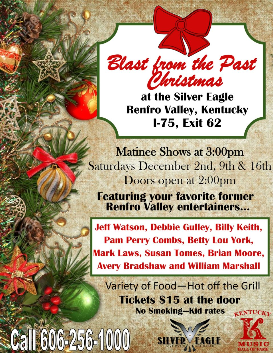 Blast From the Past Christmas Show – Kentucky Music Hall of Fame